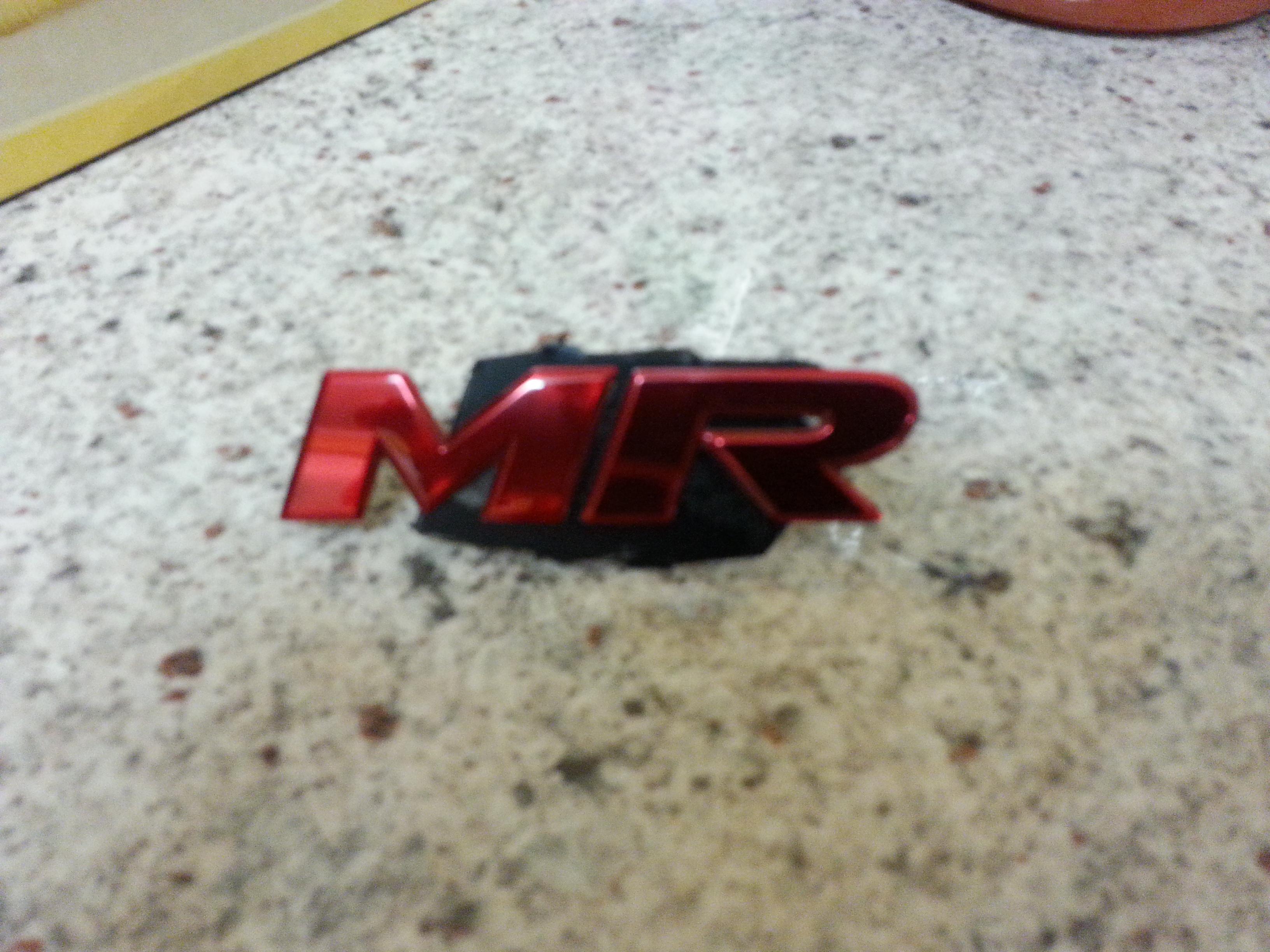 Mr front grille emblem