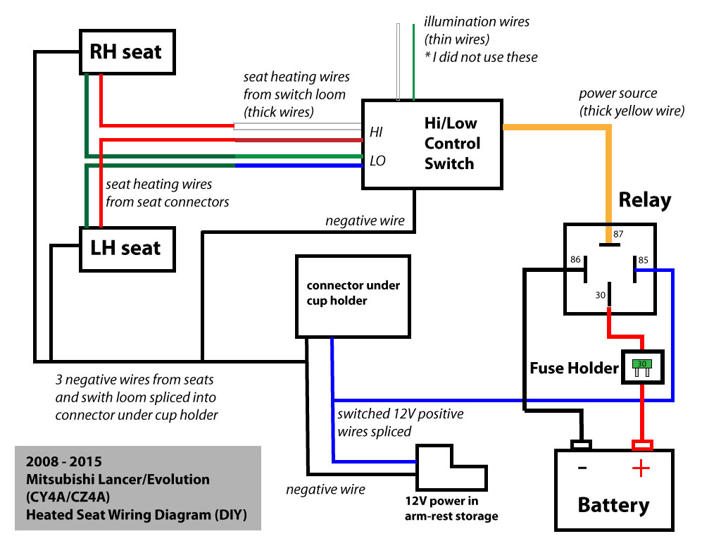 Heated Seat Wiring Diagram on Wiring Diagram On 2003 Mitsubishi Lancer Radio Wire Harness